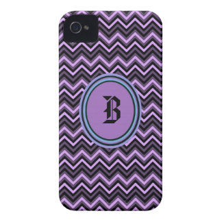 Purple Chevron Initial Iphone4/4s case