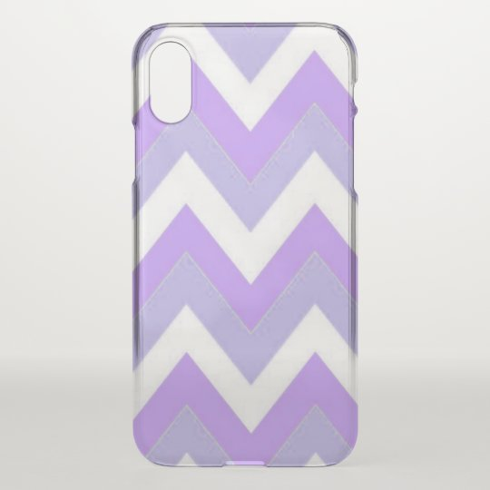 Purple Chevron iPhone X Clearly™ Case