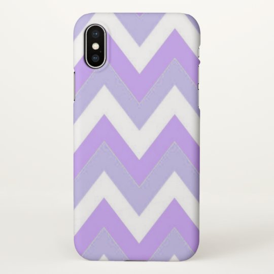 Purple Chevron iPhone X Matte Case