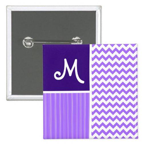 Purple Chevron Pattern Pin