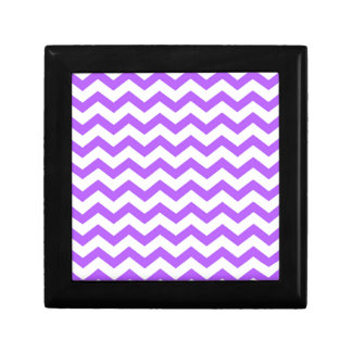 purple chevron stripes gift box