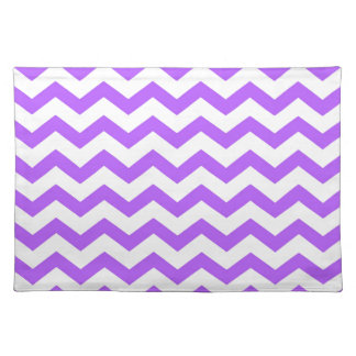 purple chevron stripes placemat