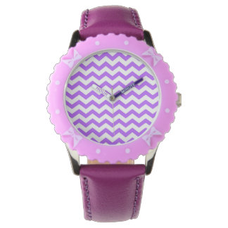 Purple Chevron Stripes Watch
