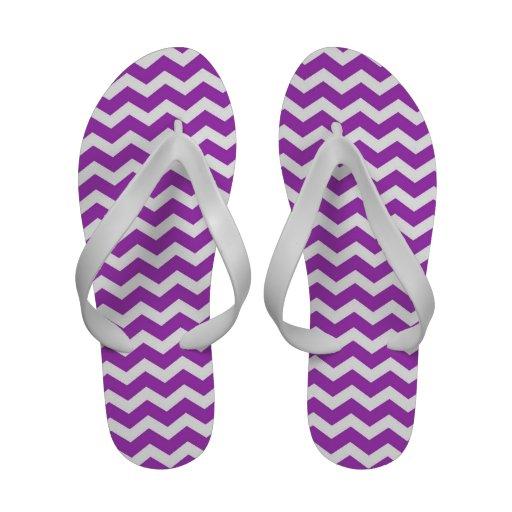 Purple Chevron Women's Sandals