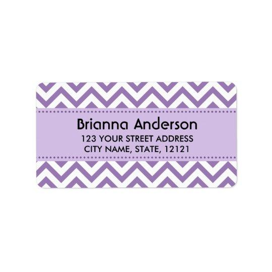 Purple chevron zigzag pattern return address