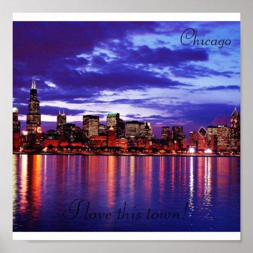 Purple CHicago, Canvas