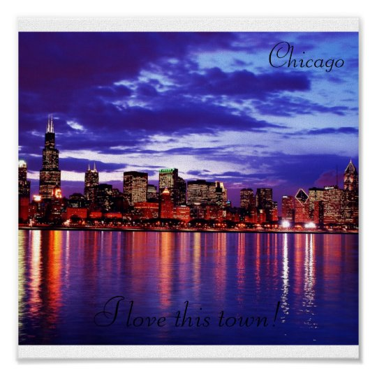 Purple CHicago, Canvas Poster