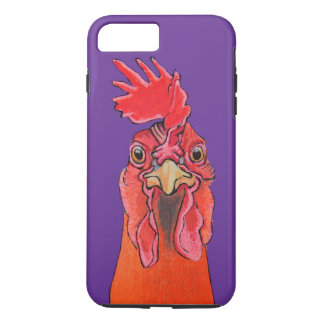 Purple chicken iPhone 7 plus case