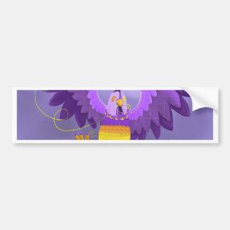 Purple Chicken Sewing Machine Bumper Sticker