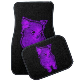 Purple Chihuahua Car Mat
