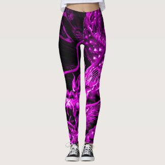 Purple Chinese Dragon Art Leggings