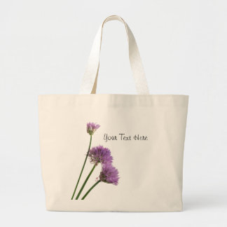 purple chives in bloom large tote bag