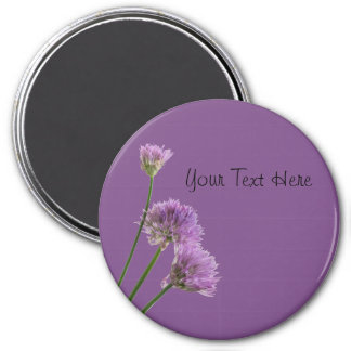 purple chives in bloom magnet