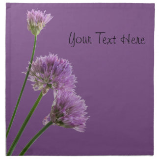 purple chives in bloom napkin