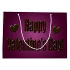 Purple Chocolate Happy Valentine Large Gift Bag