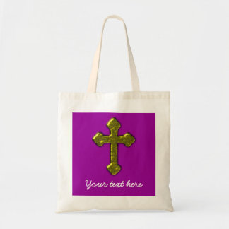 Purple Christian Customizable Tote Bag