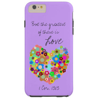 Purple Christian Love iPhone 6/6s Plus Case Tough iPhone 6 Plus Case