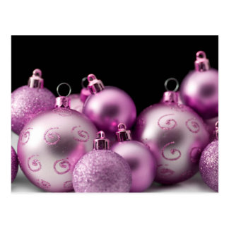 Purple Christmas Bulbs Postcard