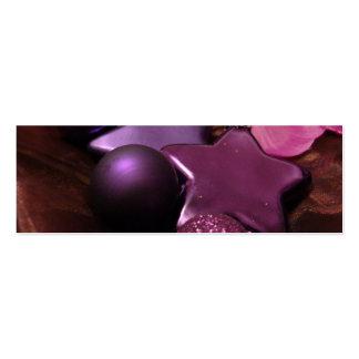 Purple Christmas Business Card