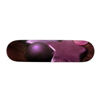 Purple Christmas Custom Skate Board