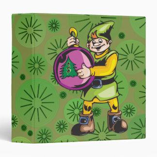 Purple Christmas Ornament and Elf Vinyl Binder