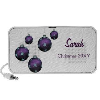 purple Christmas ornaments Speakers