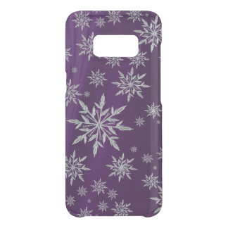 Purple Christmas stars with white ice crystal Uncommon Samsung Galaxy S8 Case