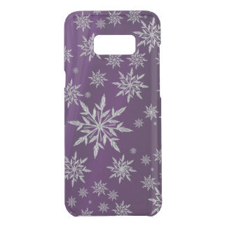 Purple Christmas stars with white ice crystal Uncommon Samsung Galaxy S8 Plus Case