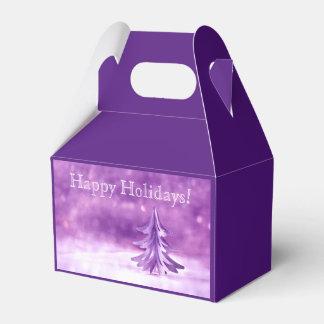 Purple Christmas Winter Wonderland Personalized Favor Box