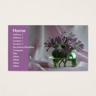 purple chrysanthemums business card