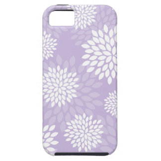 Purple Chrysanthemums Floral Pattern iPhone 5 Case