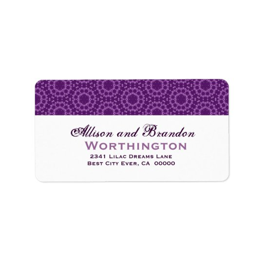Purple Circle Flowers Wedding Template