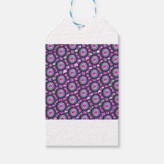 Purple circles gift tags