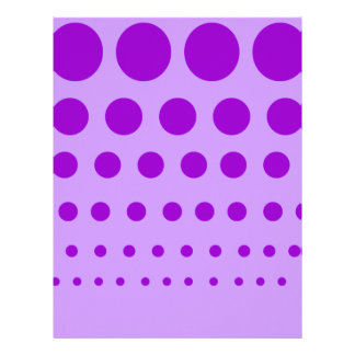 Purple Circles Graduated Letterhead