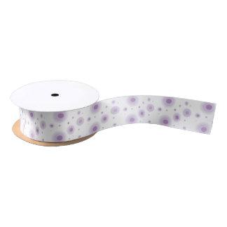 purple circles satin ribbon