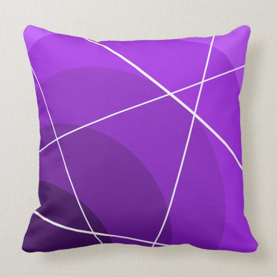 Purple Circles/White Lines Pillow