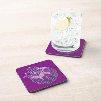 """Purple Circuit"" Tangle Beverage Coaster"