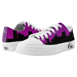 Purple City Sky Line Low-Top Sneakers