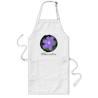 Purple Clematis Long Apron