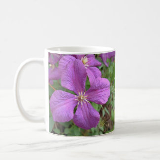 Purple Clematis Cup Basic White Mug