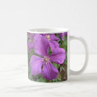 Purple Clematis Cup Mugs