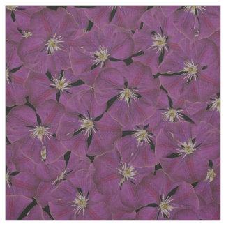 Purple Clematis Fabric