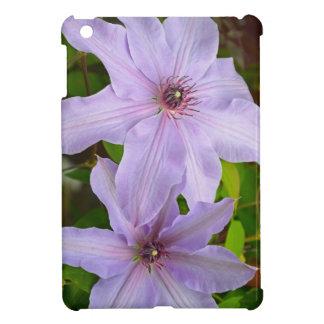 Purple clematis flower ipad case