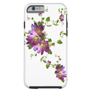 Purple Clematis Flower Plant Floral Flowering Vine Tough iPhone 6 Case