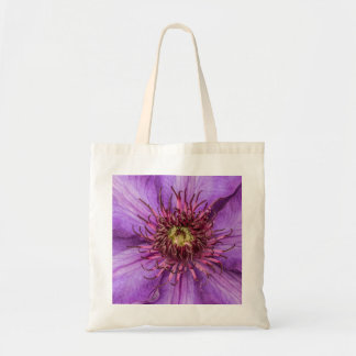 Purple Clematis Flower Tote Bag