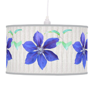 Purple Clematis Flowers Ceiling Lamps
