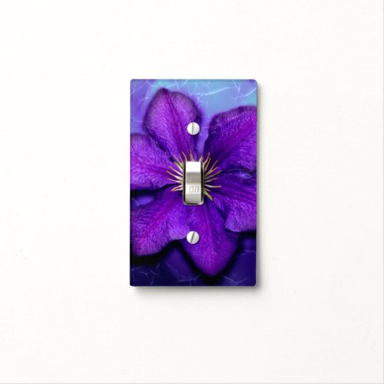 Purple Clematis Light Switch Cover