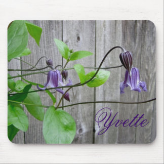 Purple Clematis Roguchi Personalized Mousepad