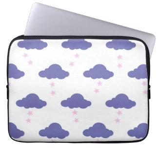 Purple Clouds laptop sleeve