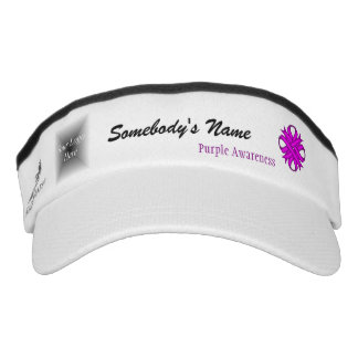 Purple Clover Ribbon Template Visor